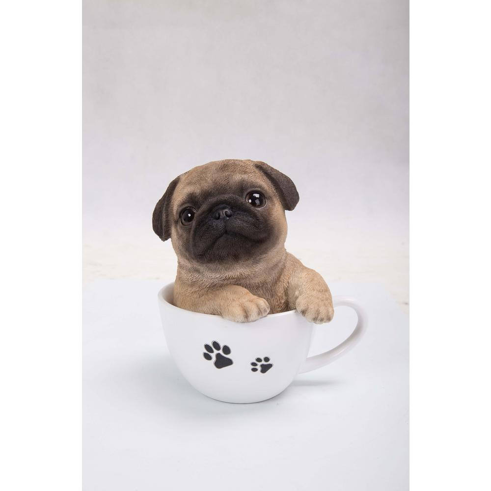 c542fb2be08 Hi-Line Gift Teacup Pug Puppy Statue-87706-B - The Home Depot