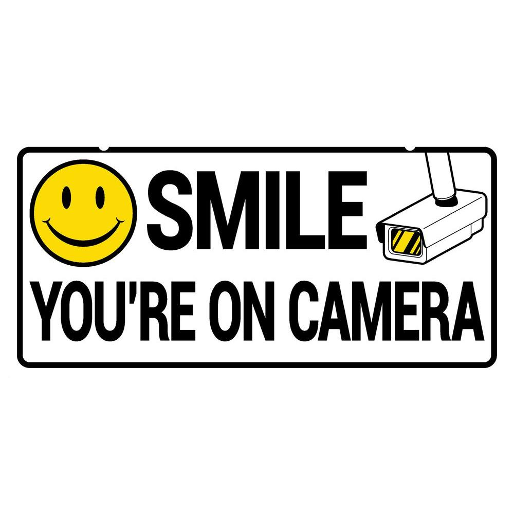 5 In X 10 In Smile Security Camera Sign 843343 The