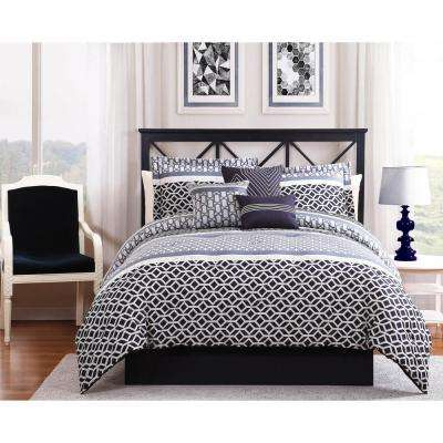 madison blackgrey 7piece fullqueen comforter set
