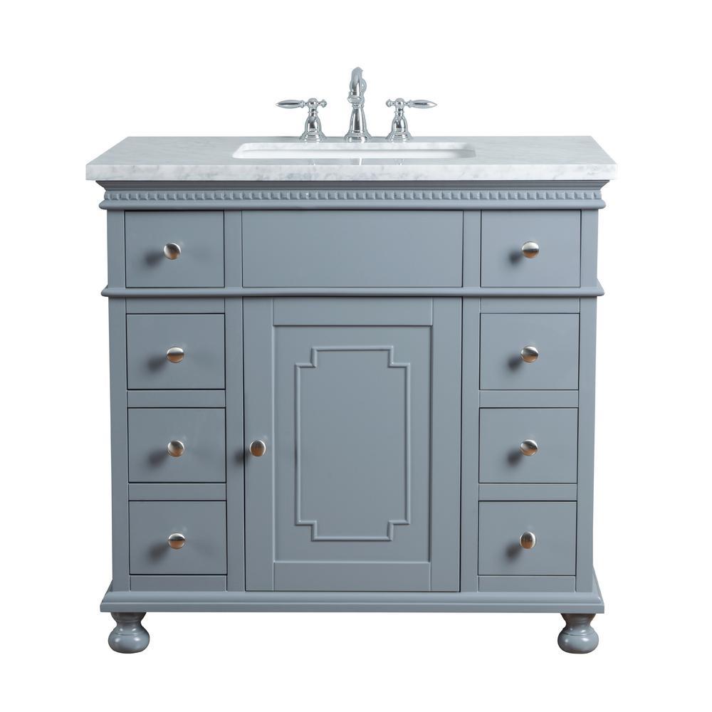 stufurhome 36 in. Abigail Embellished Single Sink Vanity ...
