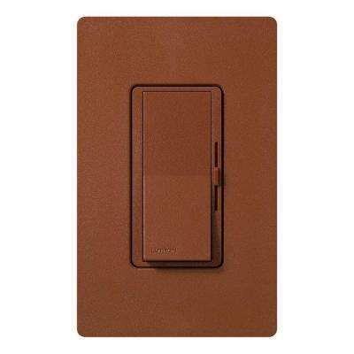 Diva Magnetic Low Voltage Dimmer, 450-Watt, Single-Pole, Sienna