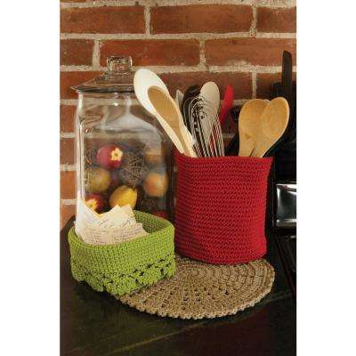 Mode Crochet Polypropylene Doily and Charger