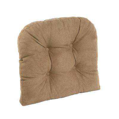Gripper Non-Slip 17 in. x 17 in. Twillo Bronze Tufted Universal Chair Cushions
