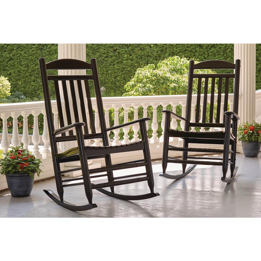 Terrific Hampton Bay Black Wood Outdoor Rocking Chair Ocoug Best Dining Table And Chair Ideas Images Ocougorg