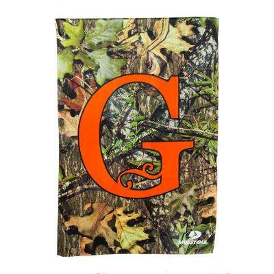 Mossy Oak 2-1/2 ft. x 3-2/3 ft. Monogrammed G 2-Sided Sublimated House Flag