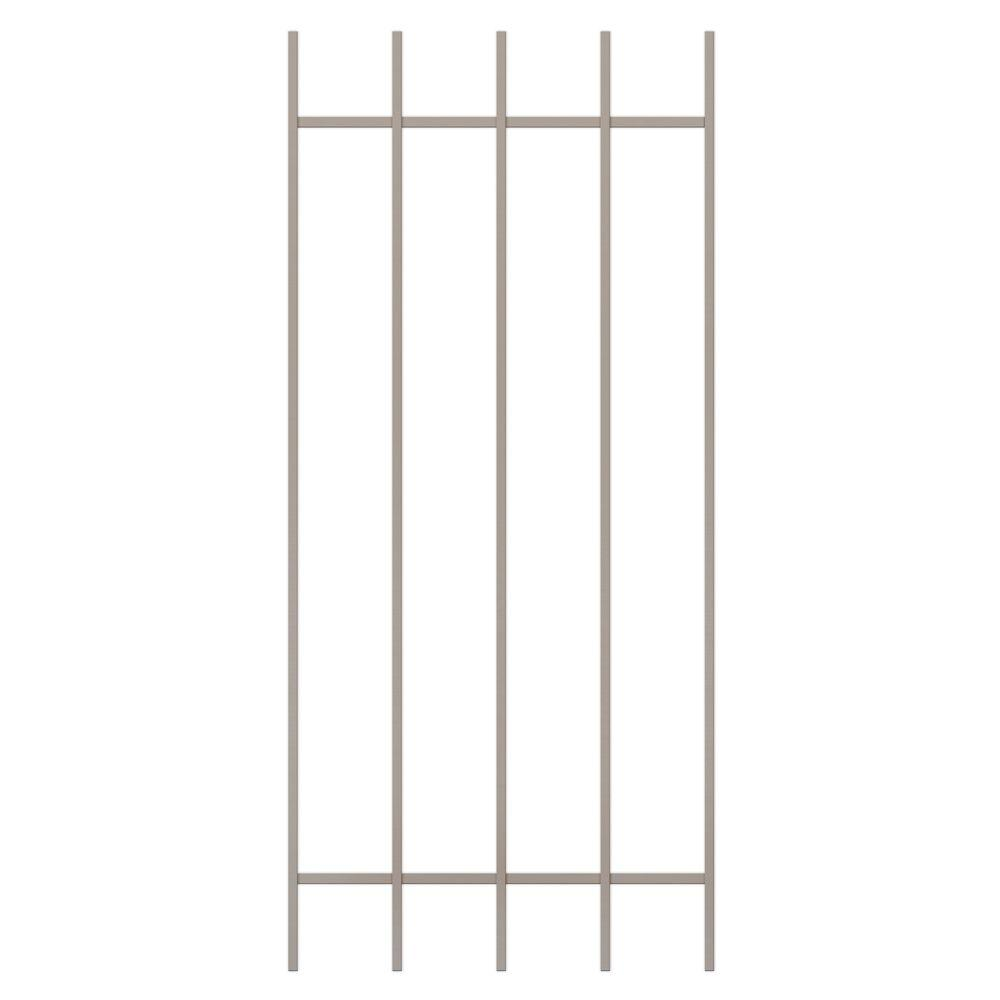 Unique Home Designs Guardian 24 in. x 54 in. Tan 5-Bar Window Guard-DISCONTINUED
