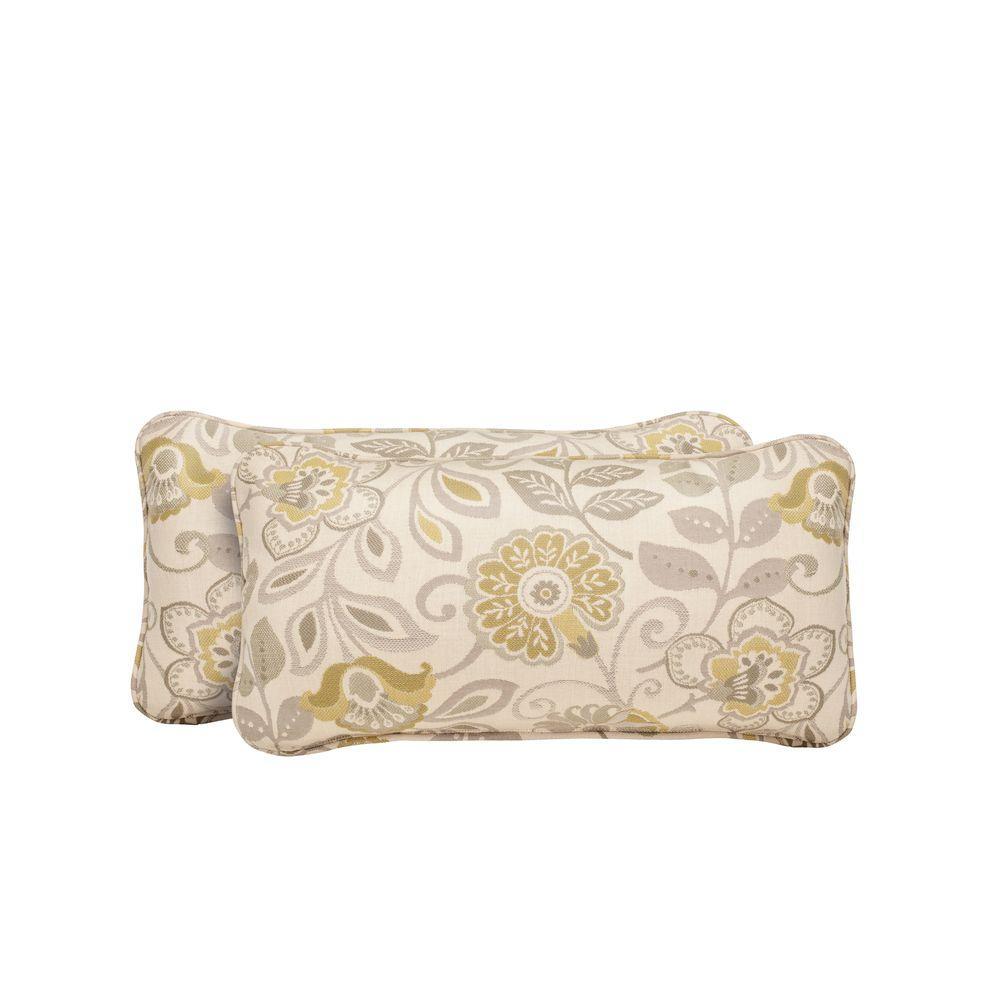 Vineyard Aphrodite Spring Outdoor Lumbar Pillow (2-Pack)