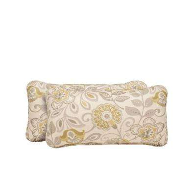 Vineyard Aphrodite Spring Outdoor Lumbar Pillow (2-Pack)