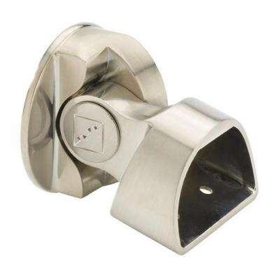 Brushed Nickel Suspended Base-Rail Connector