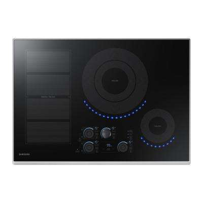 30 in. Induction Cooktop with Stainless Steel Trim with 5 Elements Including Flex Zone Element