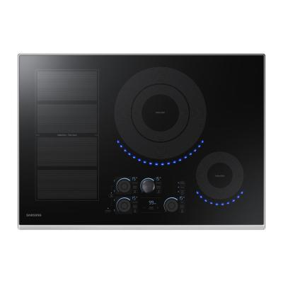30 in. Induction Cooktop with Stainless Steel Trim with 5 Elements and Flex Zone Element