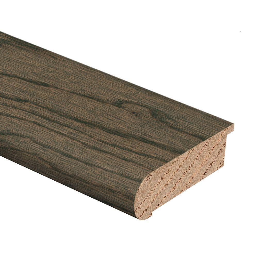 Zamma Coastal Gray Oak 3/4 in. Thick x 2-3/4 in. Wide x 94 in. Length Hardwood Stair Nose Molding