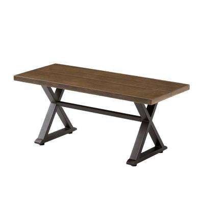 Grayson Brown Metal  Outdoor Bench