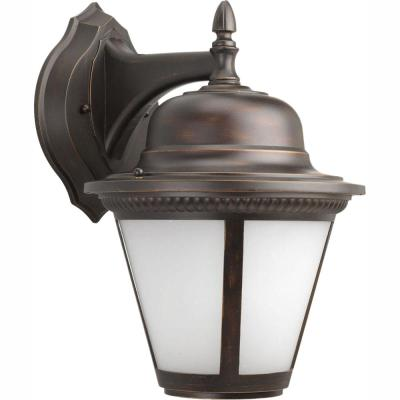Westport Collection 1-Light 15.4 in. Outdoor Antique Bronze LED Wall Lantern Sconce