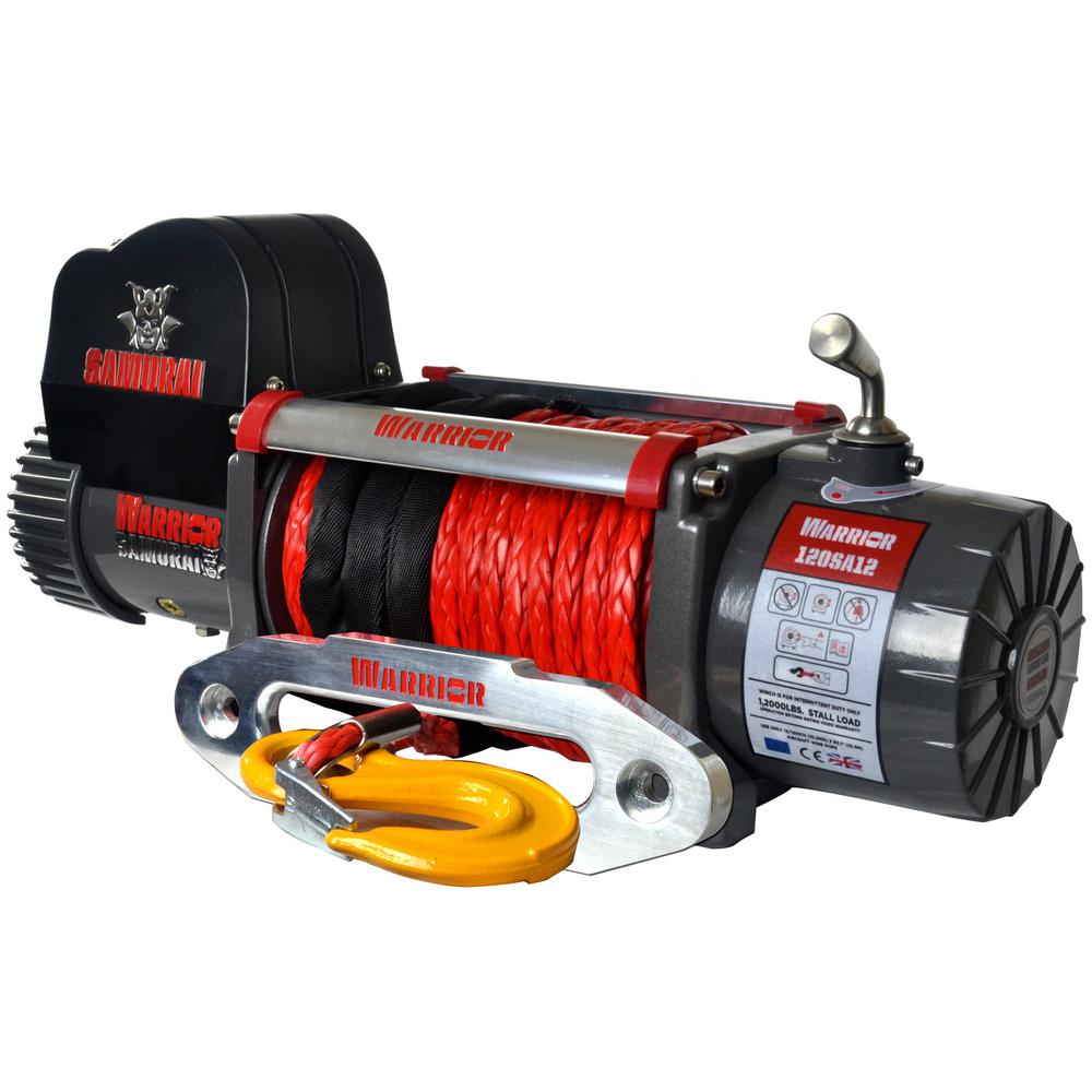 Samurai Series 12,000 lb. Capacity 12-Volt Electric Winch with 98 ft.