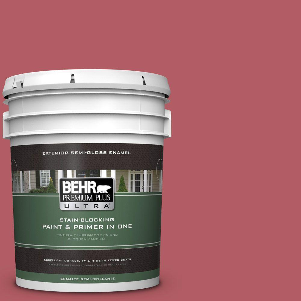 BEHR Premium Plus Ultra 5-gal. #140D-6 Shangri La Semi-Gloss Enamel Exterior Paint