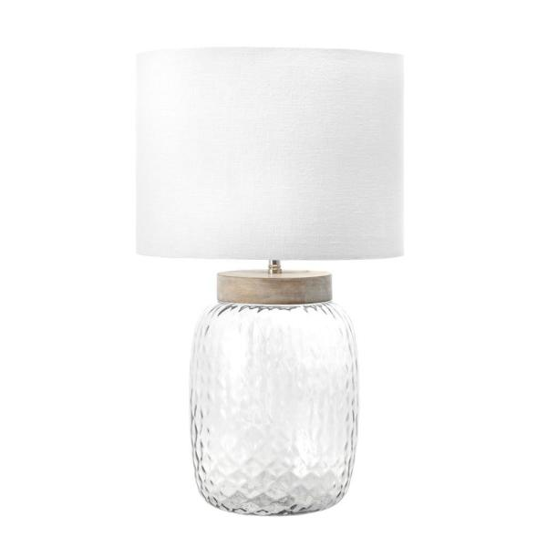 Nuloom Haines 20 In Gray Farmhouse Table Lamp Dimmable Rjt21aa The Home Depot