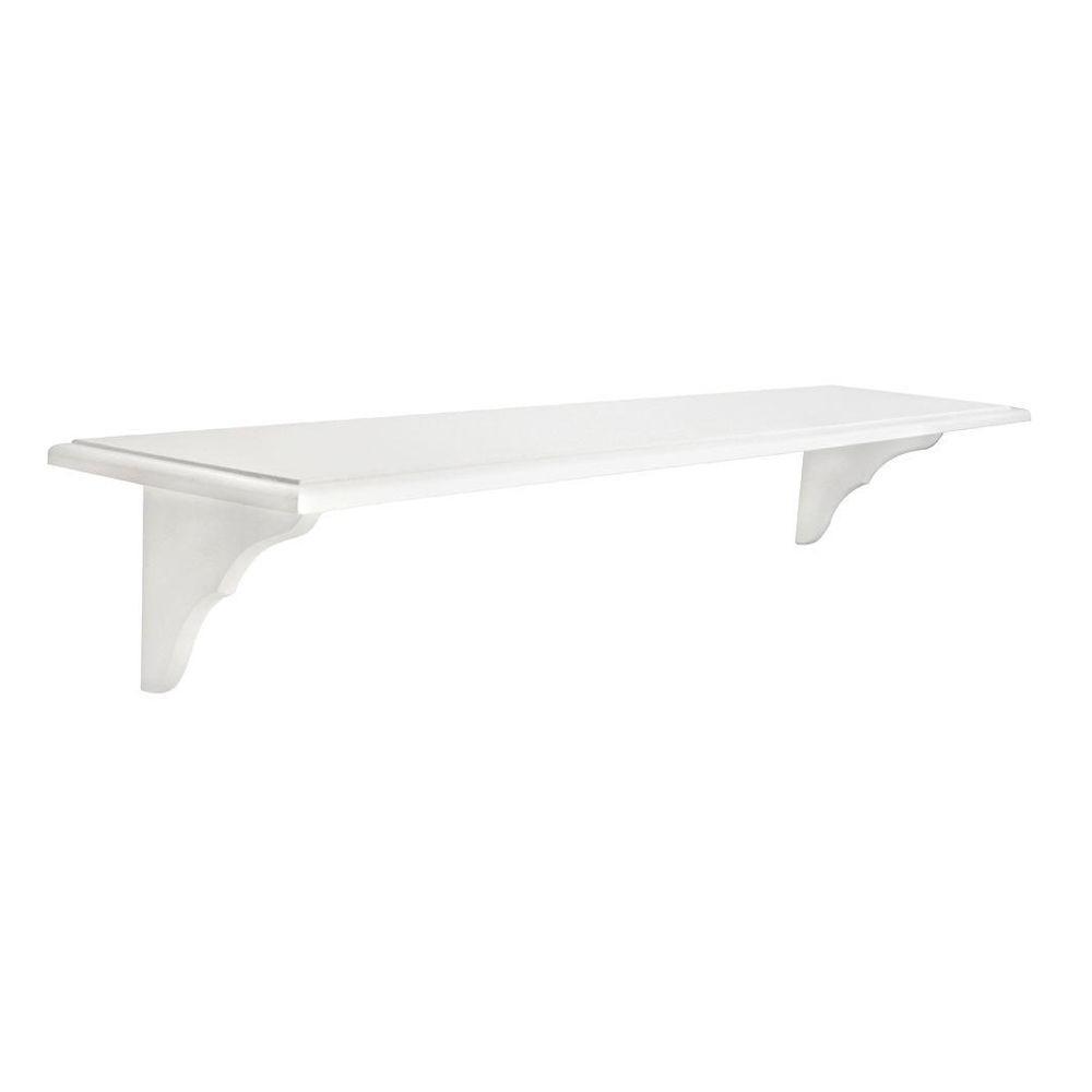 Knape & Vogt 10 in. x 46 in. White Decorative Shelf Kit