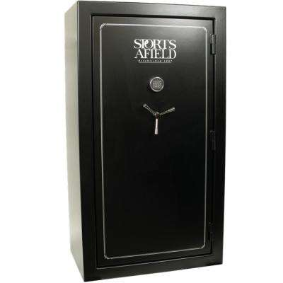 Standard Series 60-Gun Fire Rated, E-Lock Gun Safe, Black Textured