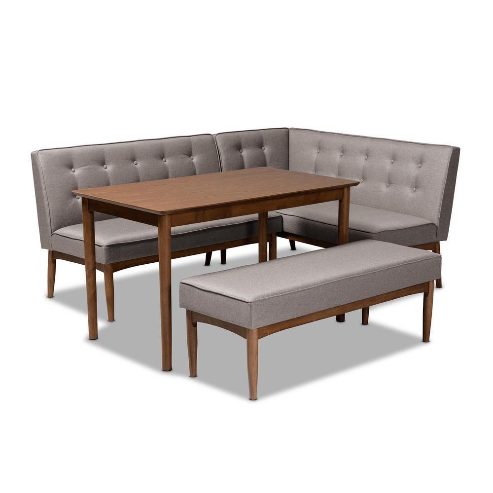 Arvid 4-Piece Gray Dining Nook Set