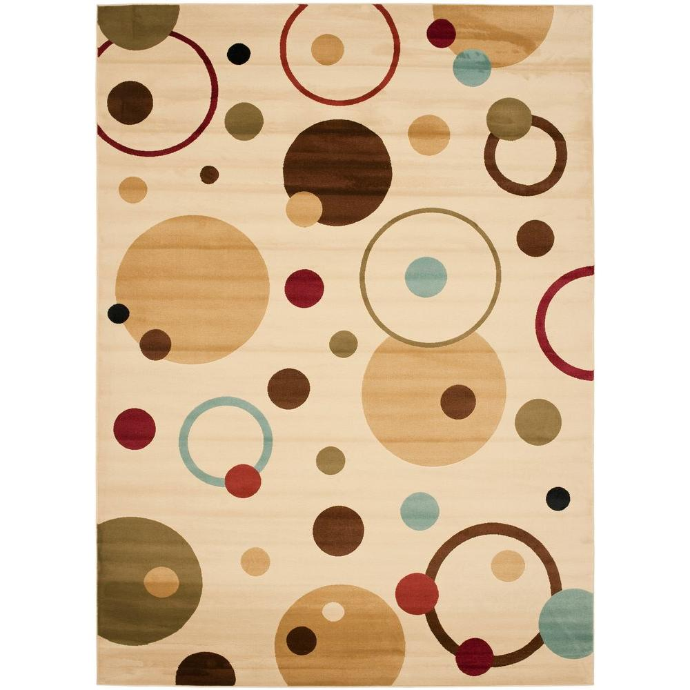 Safavieh Porcello Ivory/Multi 2 ft. 7 in. x 5 ft. Area Rug
