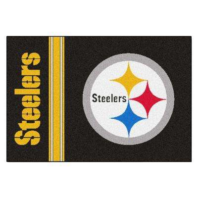 NFL - Pittsburgh Steelers Black Uniform Inspired 1 ft. 7 in. x 2 ft. 6 in. Accent Rug