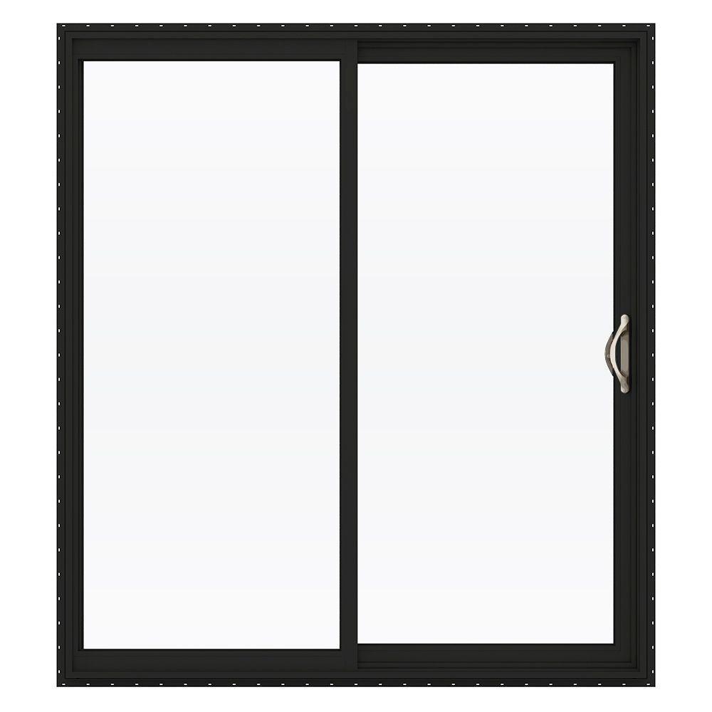 72 in. x 80 in. V-2500 Series Vinyl Sliding Low-E Glass Patio Door