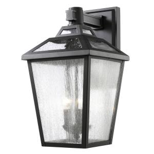 Wilkins 3 Light Black Outdoor Sconce