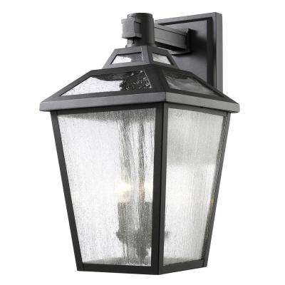 Wilkins 3-Light Black Outdoor Sconce  sc 1 st  The Home Depot & Outdoor Wall Mounted Lighting - Outdoor Lighting - The Home Depot