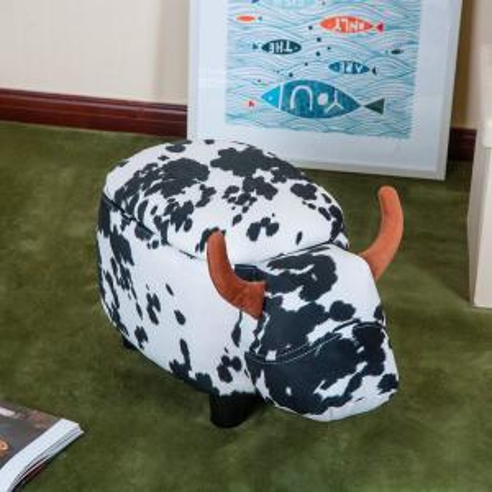 Swell Merax Cow Animal Storage Ottoman Footrest Stool Wf036884Aaa Dailytribune Chair Design For Home Dailytribuneorg