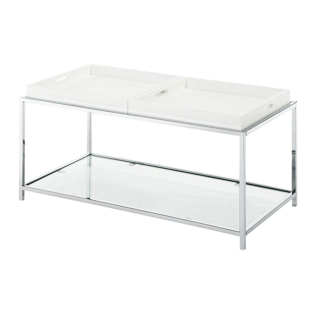 Convenience Concepts Palm Beach White Coffee Table 131382w The Home Depot