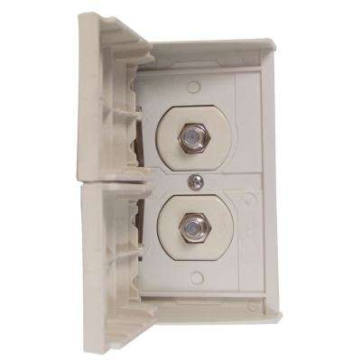 Weatherproof Cable/TV Receptacle - Ivory