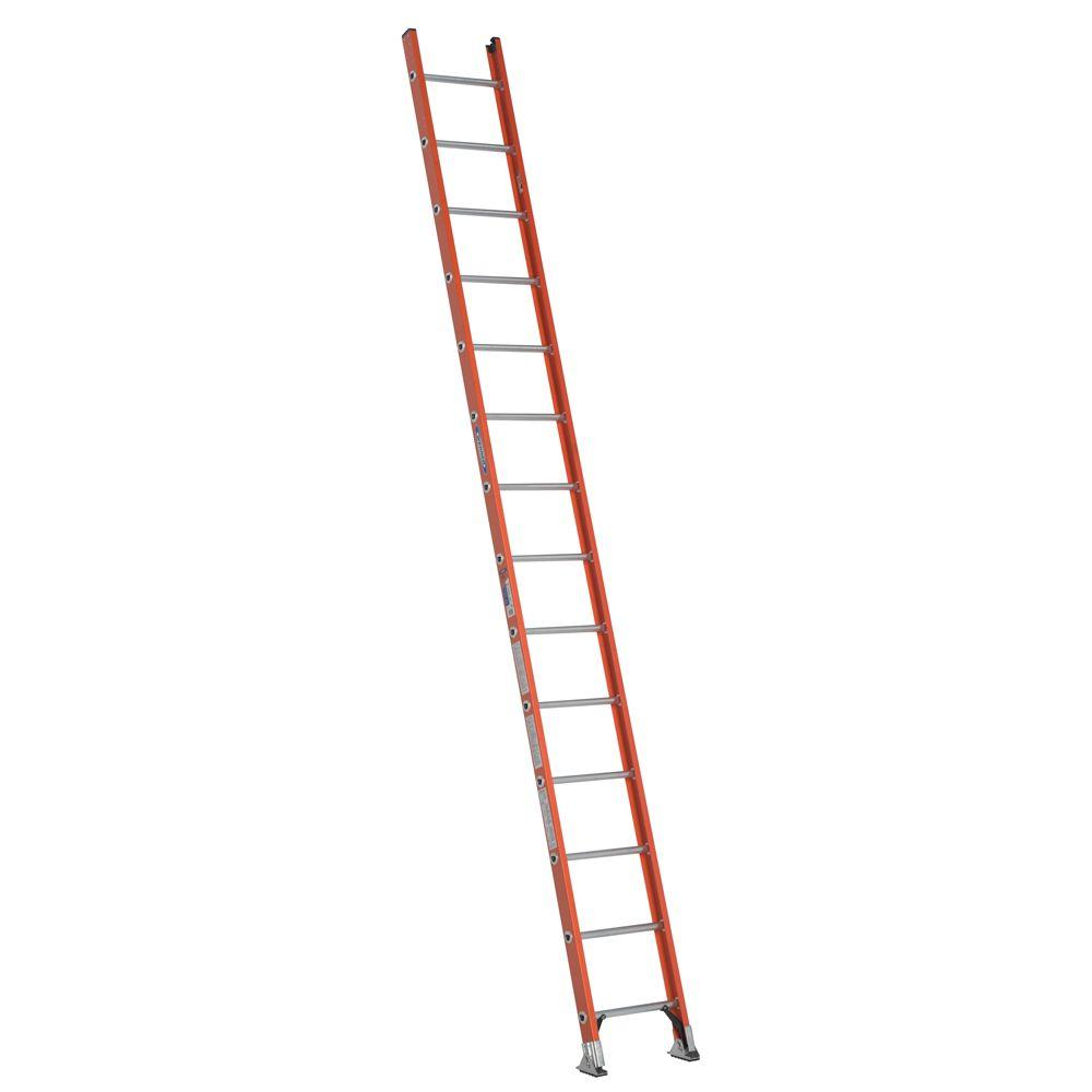 14 ft. Fiberglass D-Rung Straight Ladder with 300 lb. Load Capacity