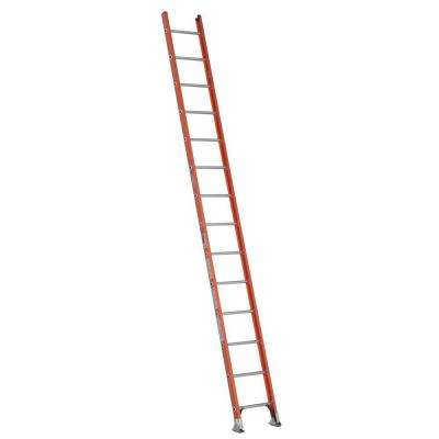 14 ft. Fiberglass D-Rung Straight Ladder with 300 lb. Load Capacity Type IA Duty Rating