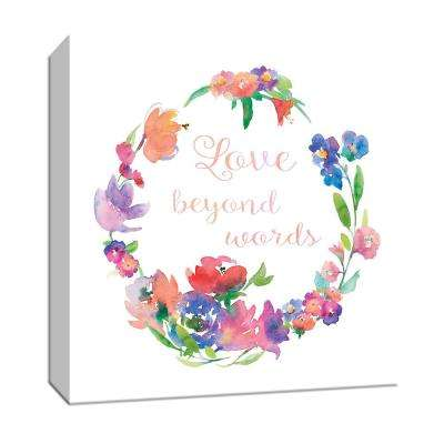 15 in. x 15 in. ''Love Beyond Words'' By PTM Images Canvas Wall Art