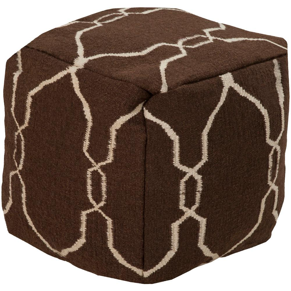 Dia Dark Brown Accent Pouf