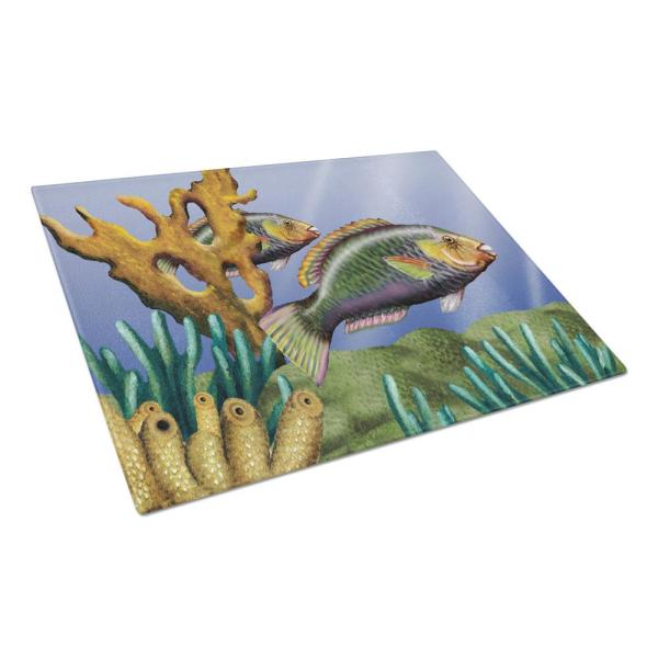 Undersea Fantasy 11 Tempered Glass Large Cutting Board