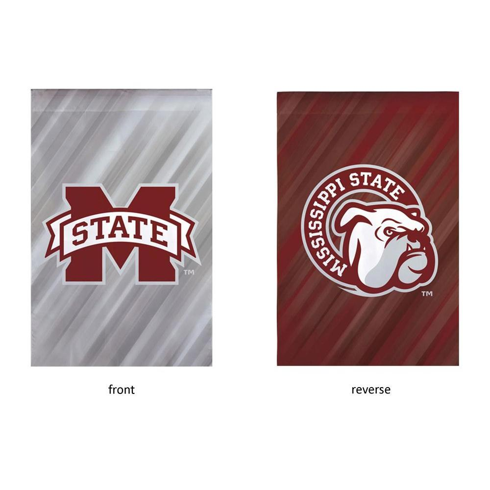 NCAA 18 in. x 12.5 in. Mississippi State University Suede Garden