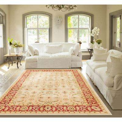 Ushak Seljuk Ivory 5 ft. x 7 ft. Traditional Area Rug