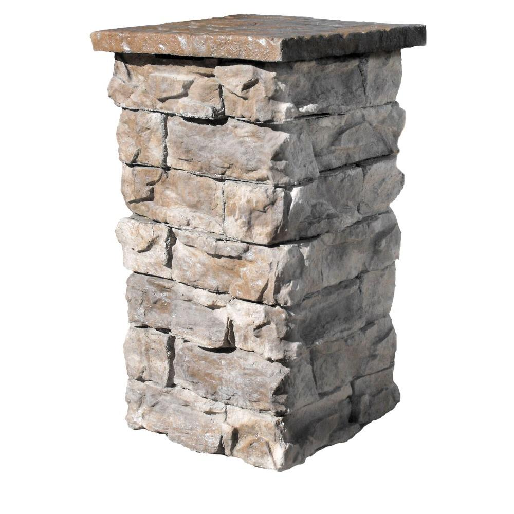Stone Column Caps : Brown in outdoor decorative column fscb the home depot