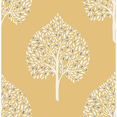 Grove Mustard Tree Paper Strippable Roll Wallpaper (Covers 56.4 sq. ft.)