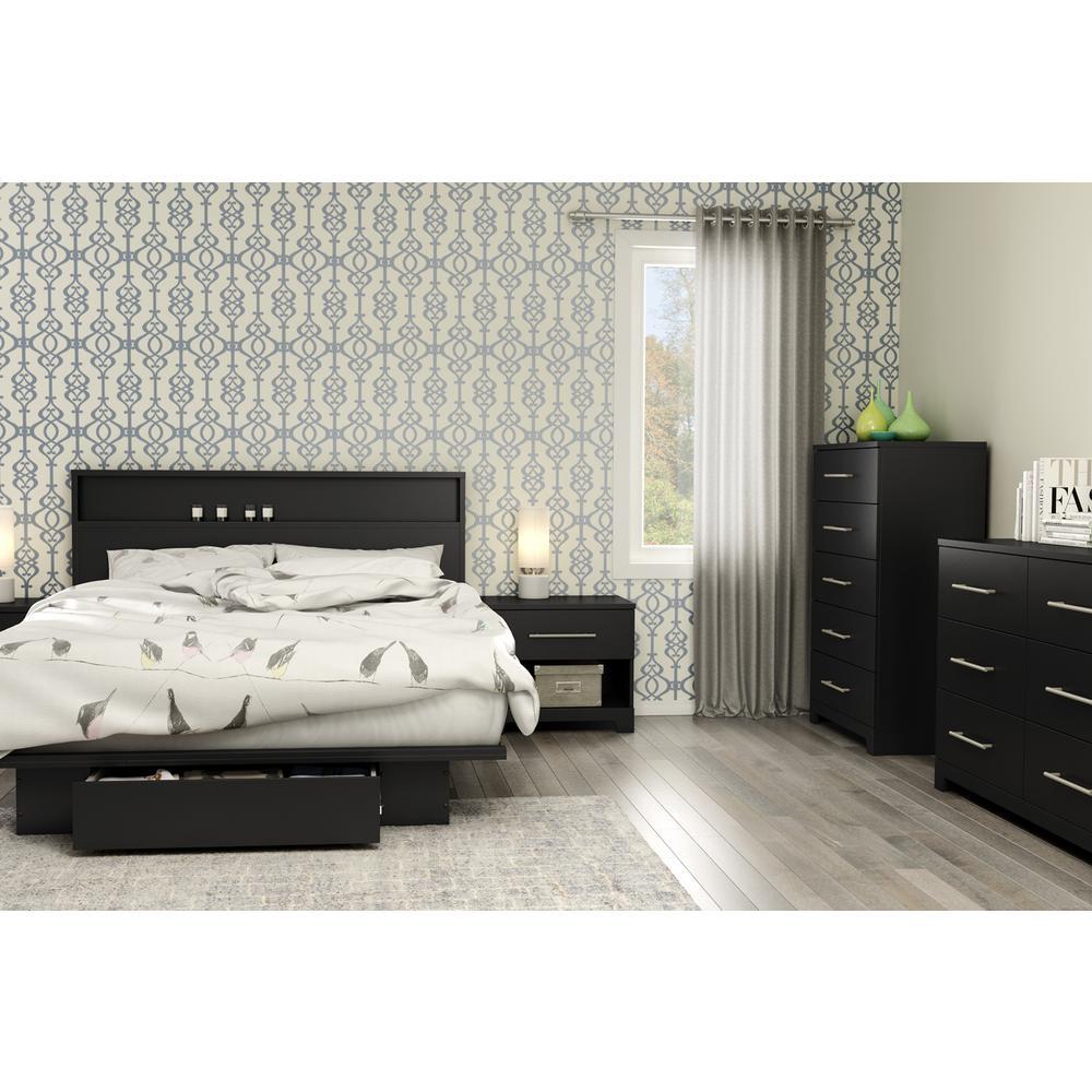 South Shore Primo 6-Drawer Pure Black Dresser