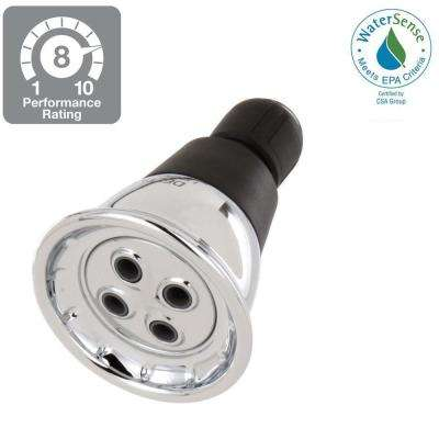 1-Spray 2-3/4 in. Water-Saving Shower Head in Chrome