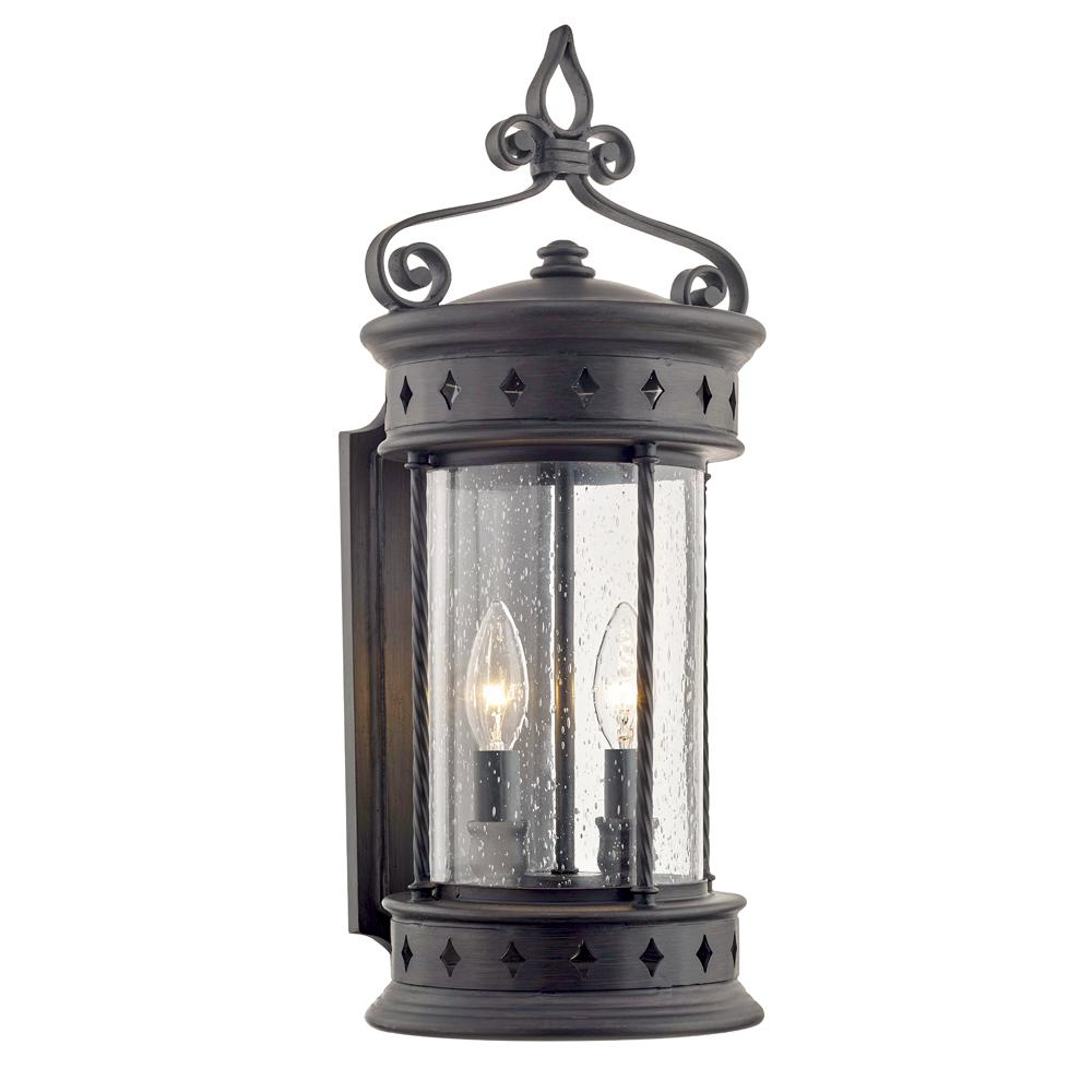 Fifth and Main Lighting Valencia 2-Light Old Bronze Outdoor Wall Mount Lantern