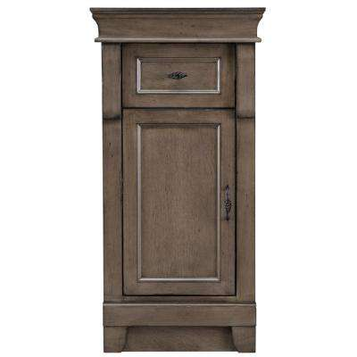 Naples 16-3/4 in. W x 34 in. H Bathroom Linen Storage Floor Cabinet in Distressed Grey