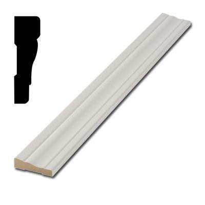 5/8 in. x 2-1/4 in. x 7 ft. Pre-Finished White MDF 356 Casing Pack (5 ft. - 7 ft. Pieces)