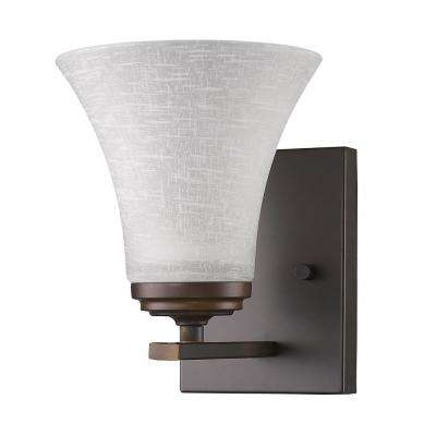 Union 1-Light Oil-Rubbed Bronze Sconce with Frosted Glass Shade