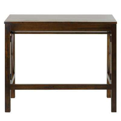 X-Design Warm Brown Folding Desk with Pull-Out