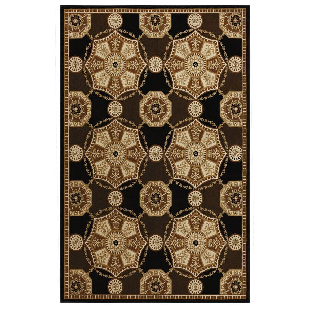 null Annadale Black 5 ft. 3 in. x 7 ft. 6 in. Area Rug