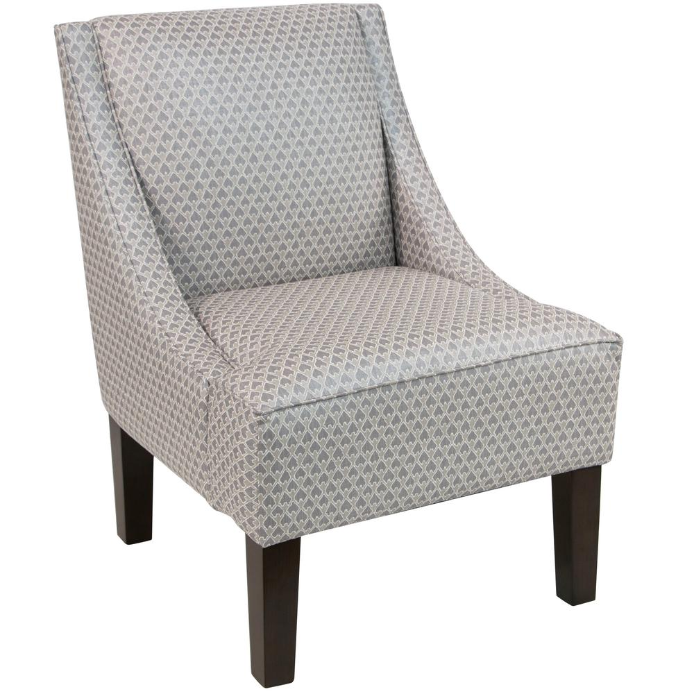 Diego Champagne Swoop Arm Chair